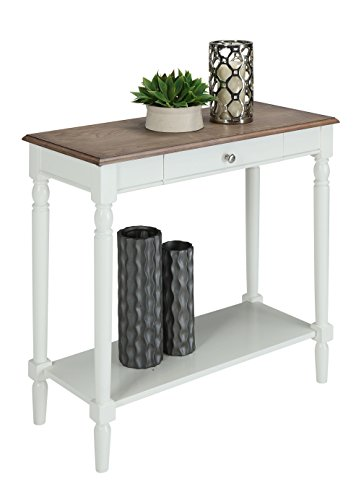 Convenience Concepts French Country Hallway Table, Driftwood White