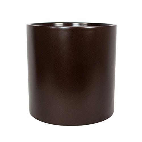 - Brea Round Cylinder Fiberglass Planter (D:14
