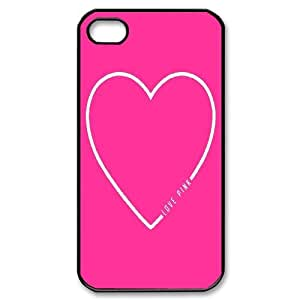 FOR Iphone 4 4S case cover -(DXJ PHONE CASE)-Unique Love Pink Pattern-PATTERN 15