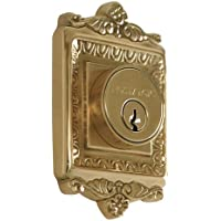 Nostalgic Warehouse BN60-EADDB-PB Egg and Dart Deadbolt, Single Cylinder, Polished Brass by Nostalgic Warehouse
