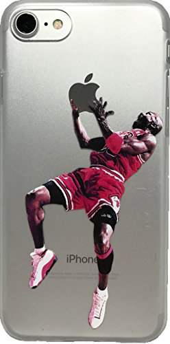 Soft TPU Basketball Case with Your Favorite Past and Present Players (Jordan Reverse Jam, iPhone 7 and 8)