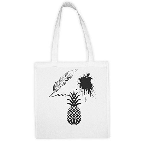 Economique Sac Pineapple Canevas Coton 9GAG Apple Pen Fun Cool Matière Taro Et Ecologiste Lavable Piko 2 Cadeau Logo Bien Longues Durable En Poignées Réutilisable q7R7Txf
