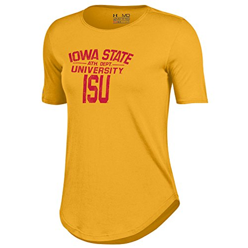 NCAA Iowa State Cyclones Women's 60 40 Tee, Gold, X-Large