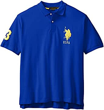 U.S. Polo Assn. Men's Big-Tall Solid Pique Polo, Cobalt Blue, 2X