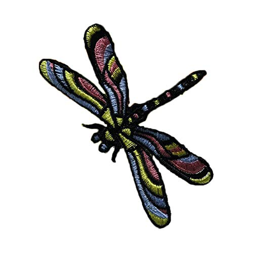 (Hosaire 1 Pcs DIY Clothes Patch Stickers Iron On Sew Embroidered Patches Motif Applique Decoration Dress Backpack Jacket Jeans Hats Bag size 6cm9cm (dragonfly))