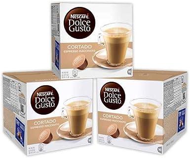 Cafe Dolce gusto CORTADO | NESTLE Pack 3 cajas de 18 capsulas cada ...