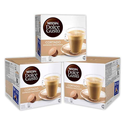 Cafe Dolce gusto CORTADO   NESTLE Pack 3 cajas de 18 capsulas cada una