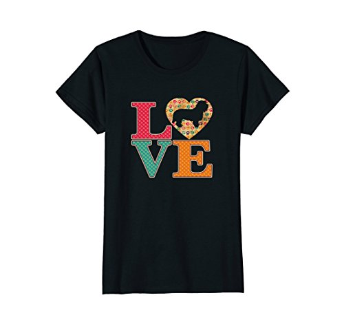 Womens Love Petit Basset Griffon Vendeens T-shirt Large Black