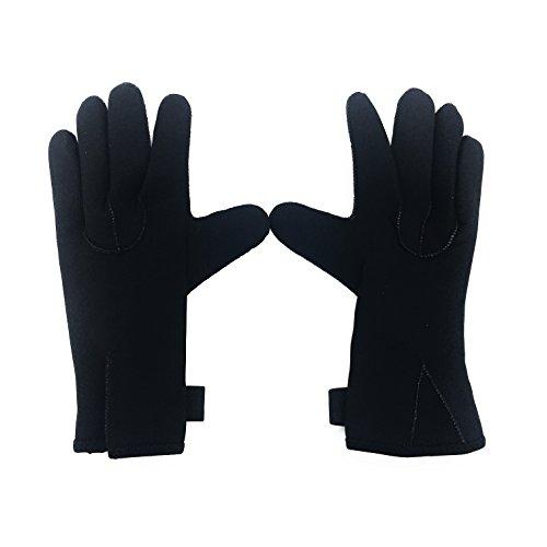 Linkin Sport Diving Gloves 3mm Neoprene Five Finger Wetsuit Gloves for Snorkeling Scuba Diving Kayaking