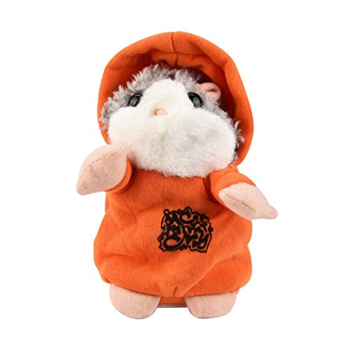 Mouse Adorable - Adorable Mouse Toy,Littleice Interesting Speak Talking Record Hamster Mouse Plush Kids Toys (Orange)