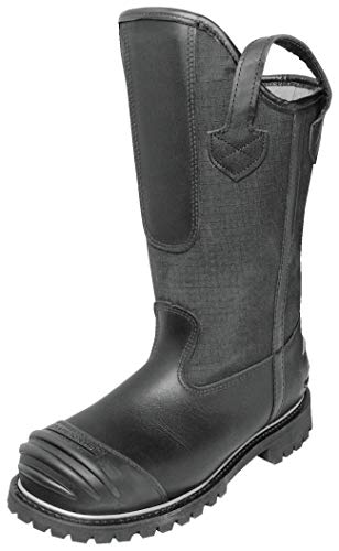 Pro Warrington 5006 Honeywell Firefighting Bunker Leather 14 inch Fire Boots (14E, Black) (Structural Boots Firefighting)