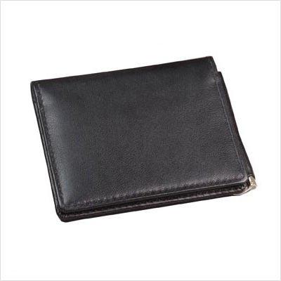 Cowhide Napa Leather Money Clip Wallet Color: -