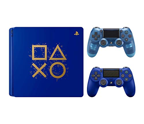 Playstation 4 Days of Play Limited Edition 1TB Console with Extra Crystal Blue Dualshock 4 Wireless Controller