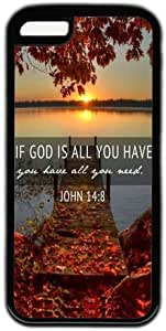 LJF phone case If God Is All You have You have All You Need Quote iphone 4/4s Case