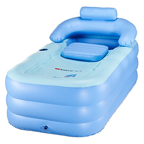 co z adult pvc portable folding inflatable bath tub with air pump for family bathroom spa. Black Bedroom Furniture Sets. Home Design Ideas