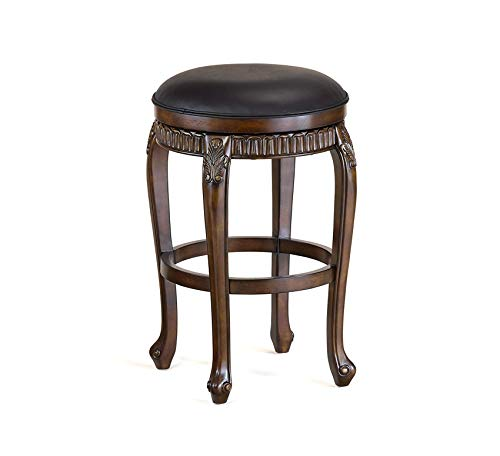 Wood & Style Furniture Backless Swivel Counter Stool, 24
