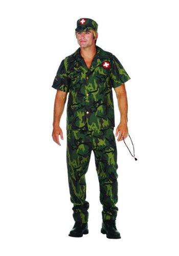 Rg_costumes Unisex Adult Army Doctor Adt Sz 32-34 Black (Army Doctor Adult Costumes)
