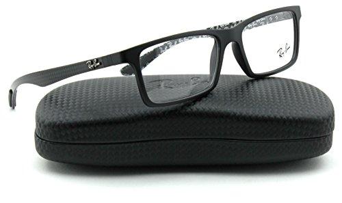 Ray-Ban RX8901 Carbon Fibre Unisex Eyeglasses (Gloss Black Frame 5263, 55) (Discount Frames Eyeglass)