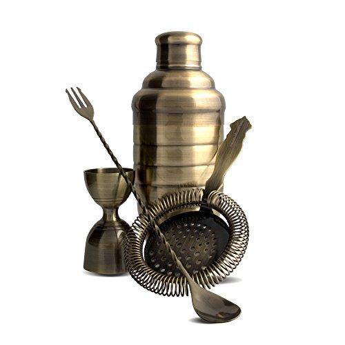 - Kit Bartender Barman shaker Bombay Bronze vintage