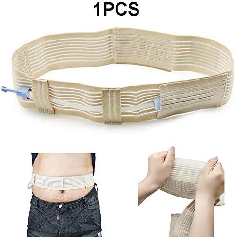 腹膜透析保護ベルト カテーテル固定装置、腹部透析ベルト、見えないベルト付きのG型チューブホルダー固定具,1pcs,M