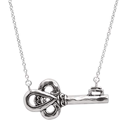 (Silpada 'Low-Key' Horizontal Key Necklace in Sterling Silver)