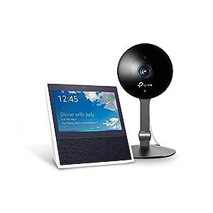 Echo Show - White + TP-Link Kasa Cam 1080p Smart Home Security Camera