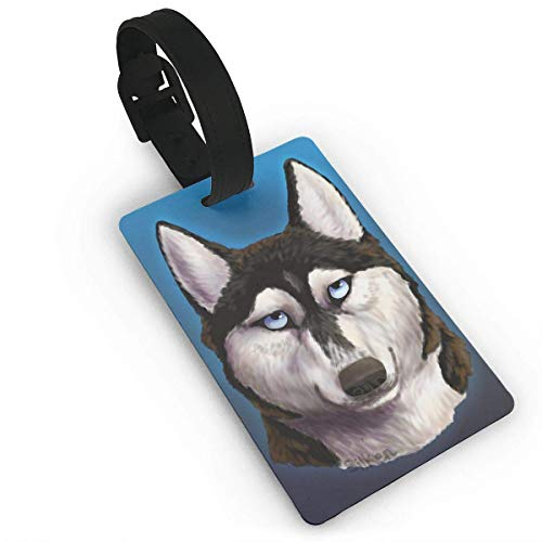 Luggage Tags For Women Men, Cool Alaska Dog Travel Luggage Labels for Luggage Suitcases Bags,Business Card Holder Travel ID Bag Tag PVC