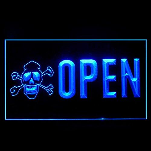 100078 Open Tattoo Skull Bone Piercing Body Display LED Light Sign by Easesign