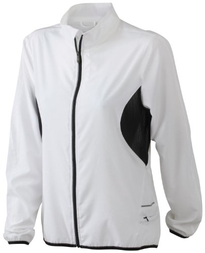 James & Nicholson Laufjacke - Chaqueta de running para mujer Blanco (white/black)