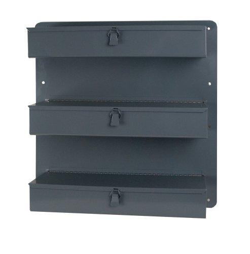 Durham 806-95 Gray Steel 3 Row Door Tray For Trucks and Vans, 21