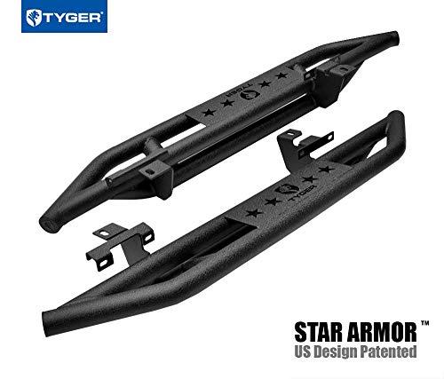 Tyger Auto TG-JA2J2289B Star Armor Kit Compatible with 2018 Jeep Wrangler JL 2 Door (Exclude JK Model) | Textured Black | Side Step | Nerf Bars | Running Boards