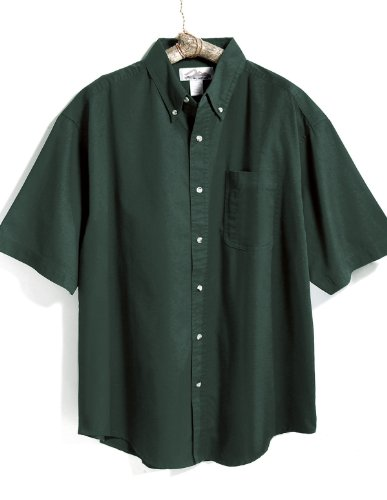 Tri-Mountain 768 Recruit Teflon Stain-Resistant Woven Shirt, Forest Green, 2XLT ()