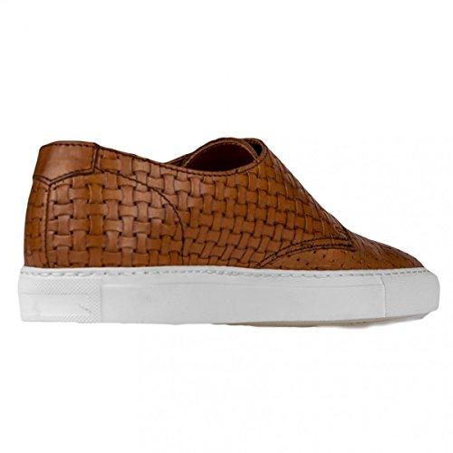 In Cuoio Sneakers Uomo Made Italy Intrecciata Pelle Fibbia Doppia Doucal's fARxq7wf