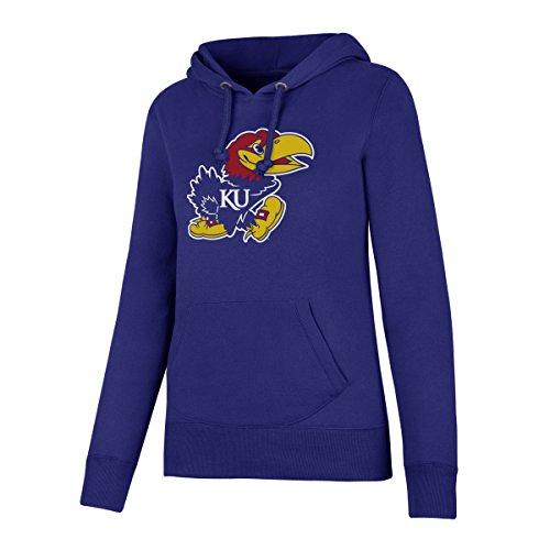 NCAA Kansas Jayhawks Women's Ots Fleece Hoodie, Medium, Royal