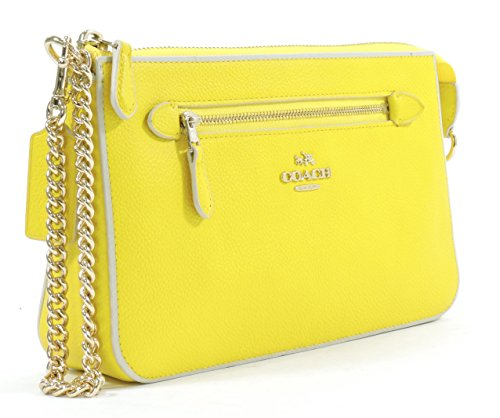 Coach Women's Yellow Chalk Nolita Wristlet 24 Colorblock Leather Wristlet Purse by Coach (Image #4)
