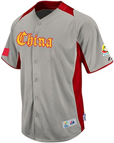 VF Team China Majestic 2013 World Baseball Classic On Field Authentic Away Jersey (46)