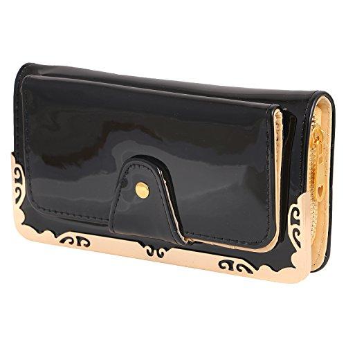 Louise Belgium Premium PU Leather Designer Women's Clutch - Black