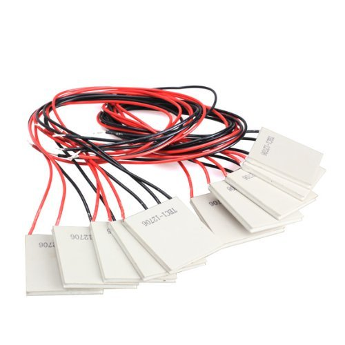 Glamorway 10Pcs TEC1-12706 Thermoelectric Cooler Heat Sink Cooling Peltier 12V 5.8A