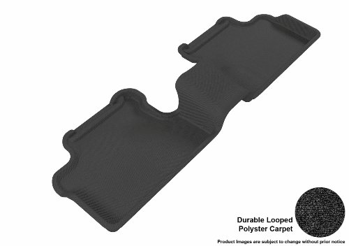 3D MAXpider Second Row Custom Fit Floor Mat for Select Mazda3 Models - Classic Carpet (Black) (Cargo Trunk Cover Mazda3 compare prices)