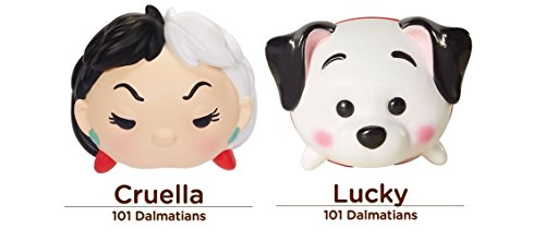 Disney Tsum Tsum 2 Figure Heroes vs Villians Pack - 101 Dalmatians Cruella De Vil & Lucky Medium Vinyl Set