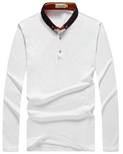 【Smile LaLa】 メンズ 半袖 長袖 ポロシャツ カジュアル スポーツウェア ゴルフウェア シンプル 快適 無地 インナー