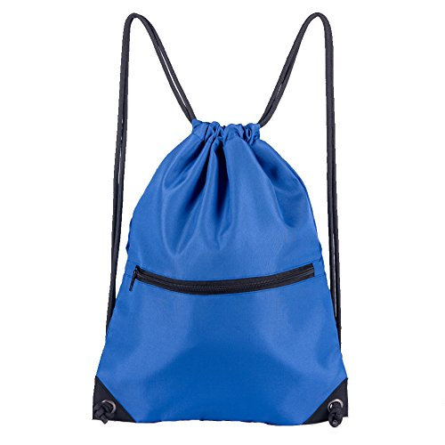 HOLYLUCK Men & Women Sport Gym Sack Drawstring Backpack Bag (White, Purple, Burgundy,Black,Navy Blue,Red,Blue)