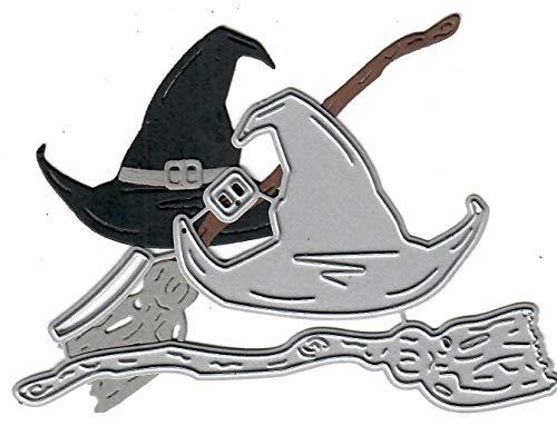 Dies to die for Metal Craft Cutting die - Halloween Fun - Witch hat and Broom