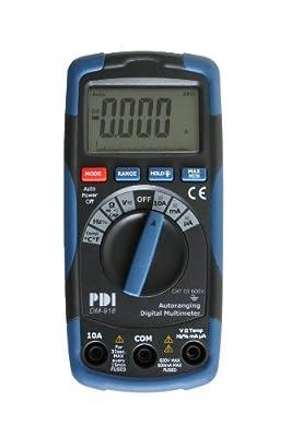 PDI DM-918 Handheld AC/DC Digital Multimeter, Blue