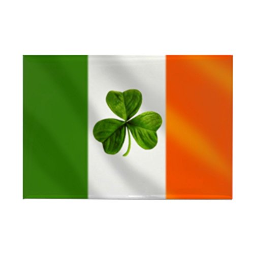 CafePress Irish Shamrock Flag Rectangle Magnet, 2