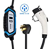 BougeRV Level 2 EV Charger (240V, 32A, 25FT) Portable EV Charging Cable EVSE Electric Vehicle Charger with NEMA 14-50P for Chevy Volt, BMW, Nissan Leaf, Fiat, Ford Fusion, Toyota Prius Prime