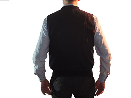 Suéter Mangas Cashmere Navy Bolsillo Doble En Botones Sin Con Chaleco Hombre V 100 1stamerican De Cuello Cachemira Invierno Pulòver S1w40qS