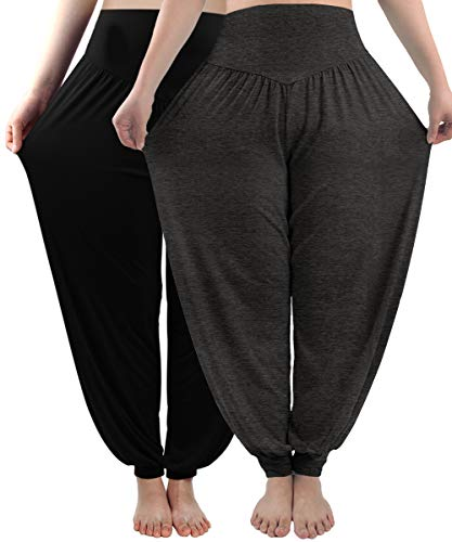fitglam Women's Harem Pants Loose Casual Lounge Yoga Beach Pants Plus Size Joggers