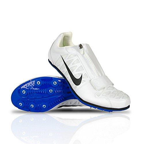 Nike Zoom Lj 4 Saut En Longueur Track Pointes Chaussures Blanc Noir Bleu Hommes Taille 11 415339-100