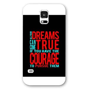 UniqueBox Customized Disney Series Phone Case for Samsung Galaxy S5, Walt Disney Quotes Samsung Galaxy S5 Case, Only Fit for Samsung Galaxy S5 (White Frosted Shell)